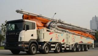 中联重科101米臂架泵车介绍 小型混凝土臂架泵车的优势