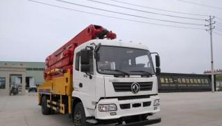 小型混凝土臂架泵车从进入工地到正常工作的注意事项