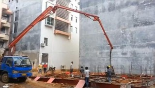 小型泵车正确进行混凝土浇筑的方法和操作中的安全注意事项