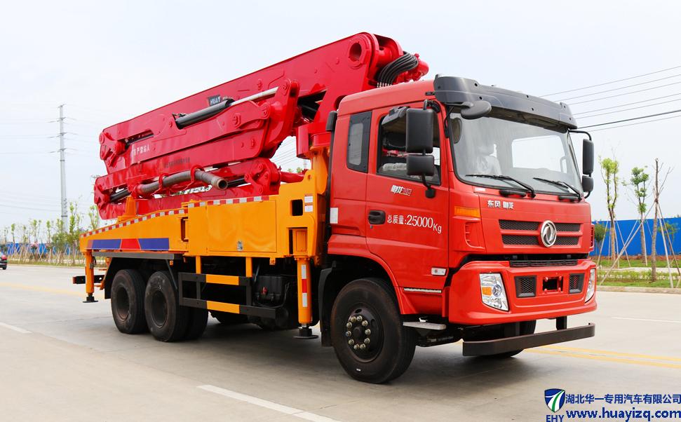 39米小型混凝土泵车_东风臂架泵车_玉柴330马力