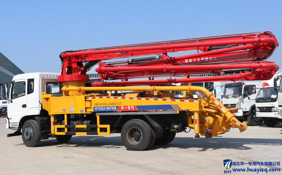 东风小型混凝土天泵车